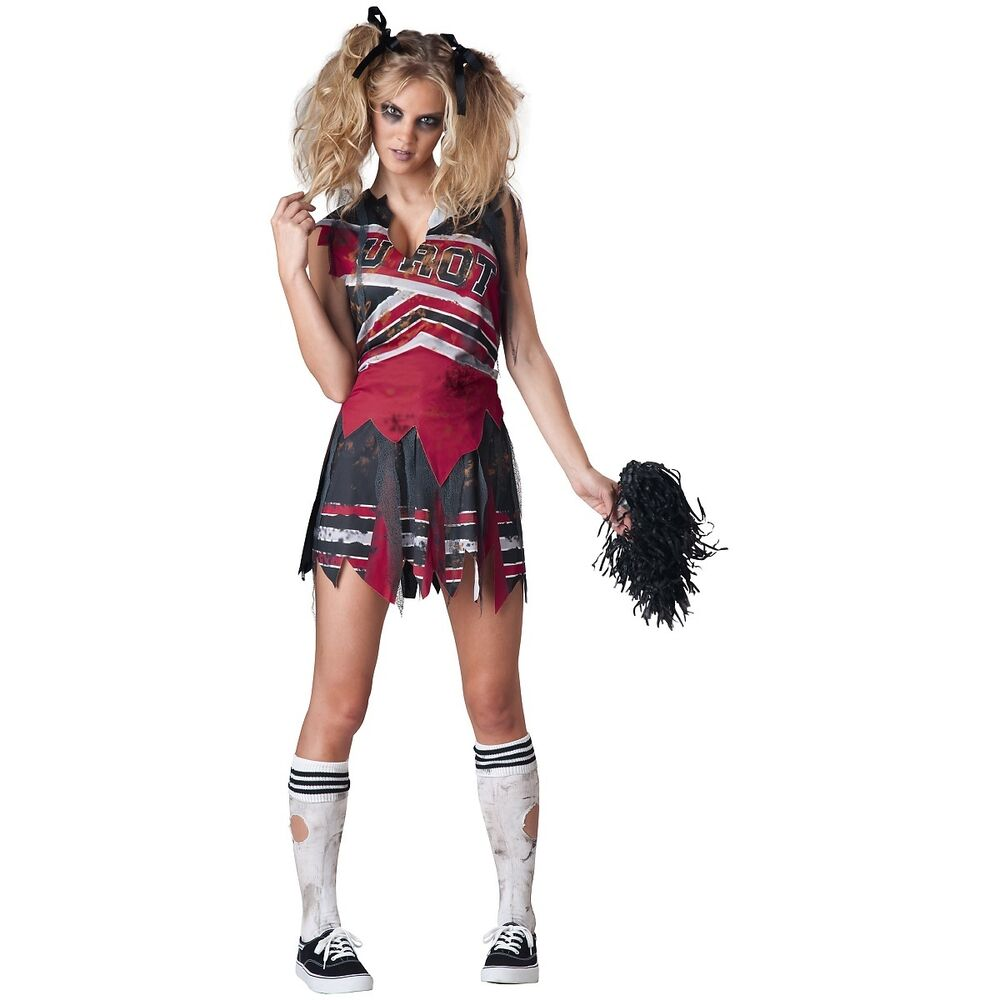 Spiritless Cheerleader Costume Adult Scary Sports Zombie