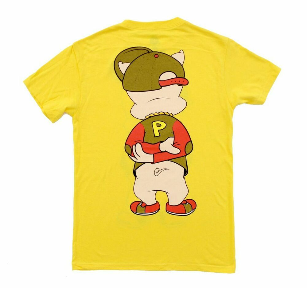 Cartoon Characters Yellow And Black Striped Shirts : Animated cartoon looney tunes hip porky pig front and back