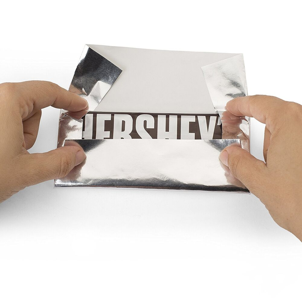 new foil wrapper silver 6 u0026quot  x 7 5 u0026quot  for hershey bar over