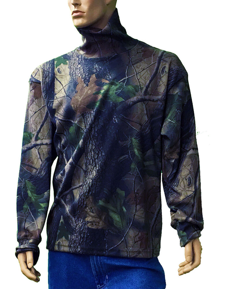 Long sleeve turtleneck real tree camo print big and tall for Big and tall long sleeve shirts