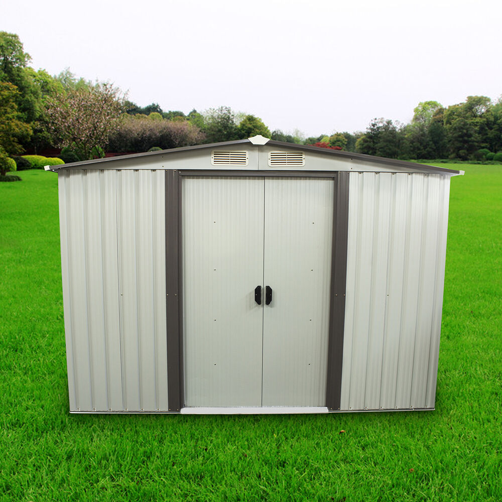 8 39 x8 39 outdoor tool storage shed utility backyard garden for Outdoor tool shed
