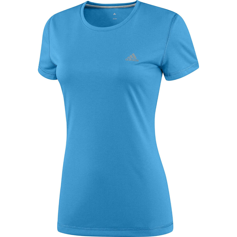 New adidas prime running top t shirt blue ladies for Best fitness t shirts