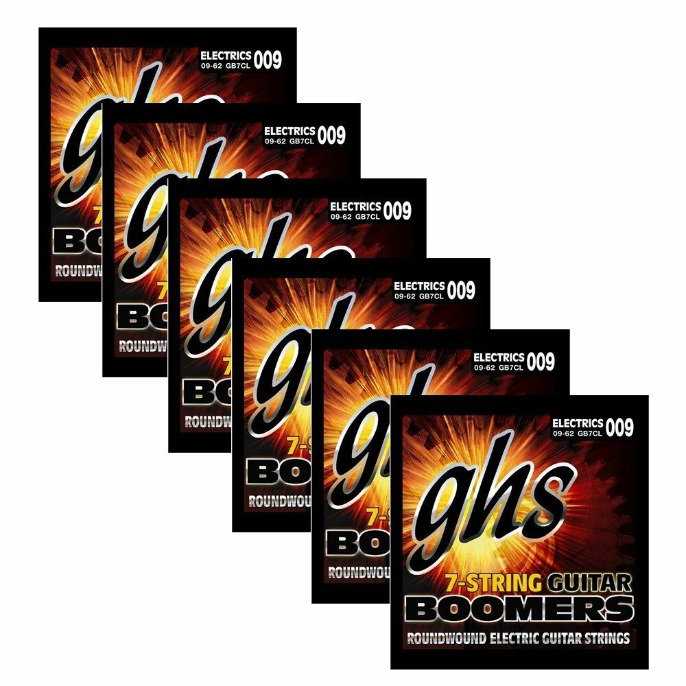 6 Sets Of Ghs Strings Gb7cl 7 String Electric Guitar Boomers Lower 09 Electrics Tuning 62 Ebay