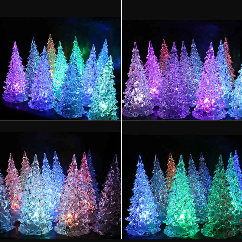 7 colors changing led christmas tree night light lamp home decor gift new year ebay. Black Bedroom Furniture Sets. Home Design Ideas