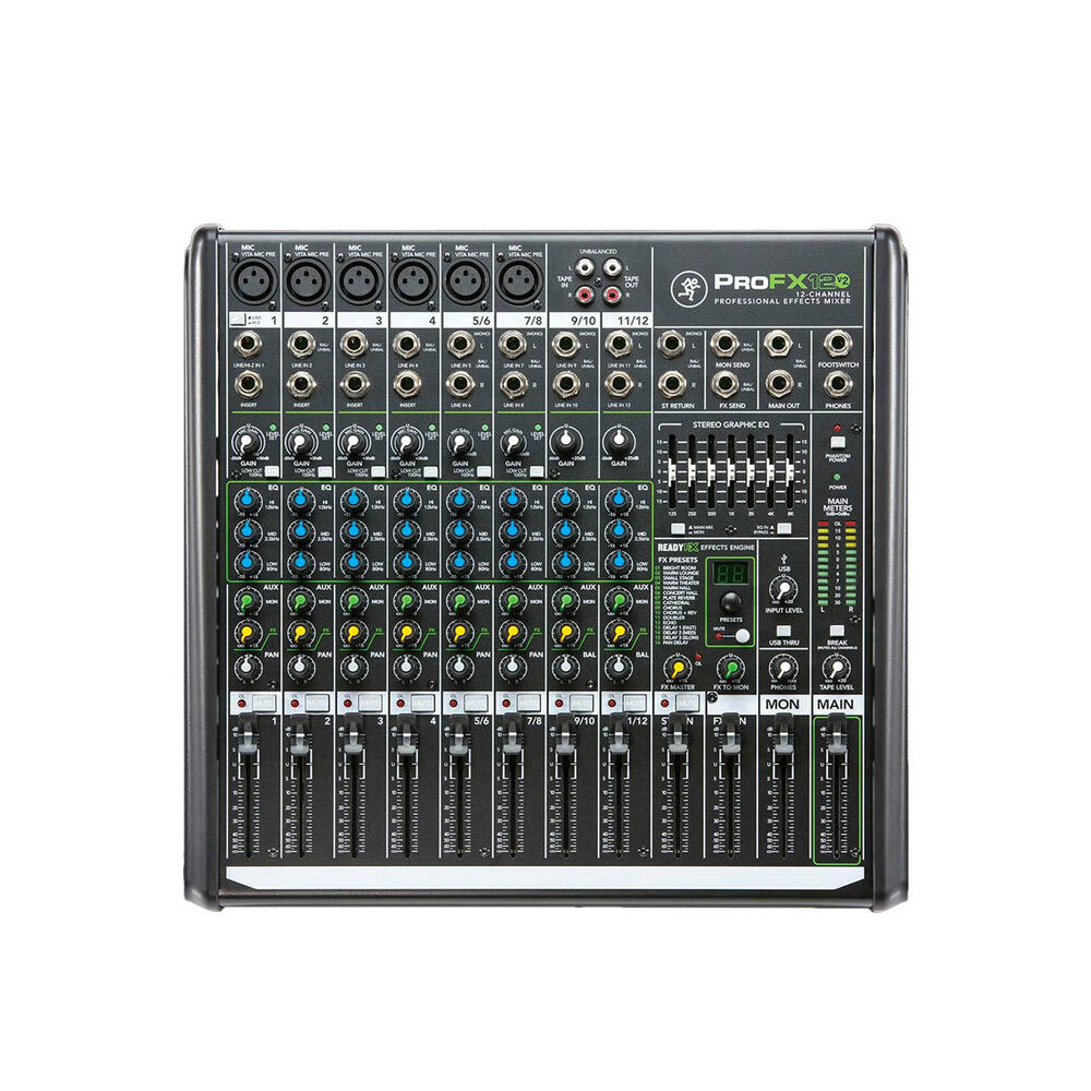 mackie profx12v2 compact effects mixer ebay. Black Bedroom Furniture Sets. Home Design Ideas