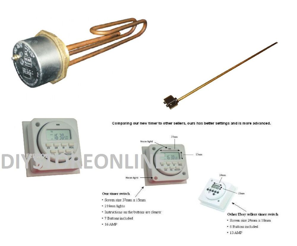 Digital immersion heater or thermostat water heater or for Copper water boiler