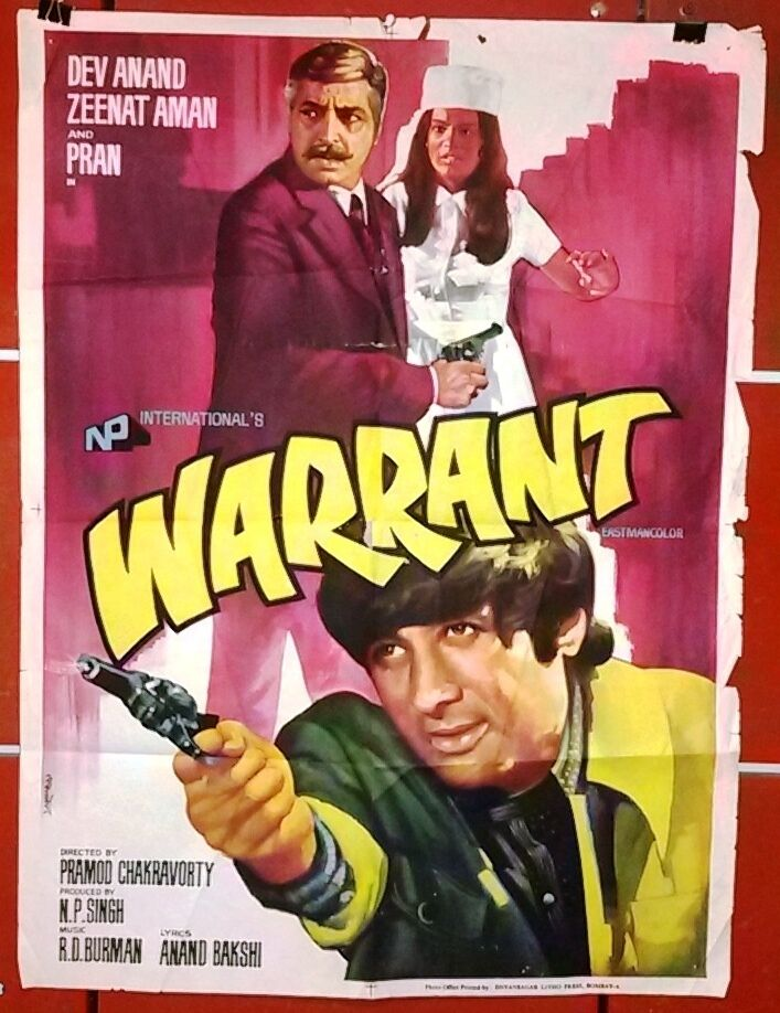 warrant dev anand bollywood hindi original movie poster
