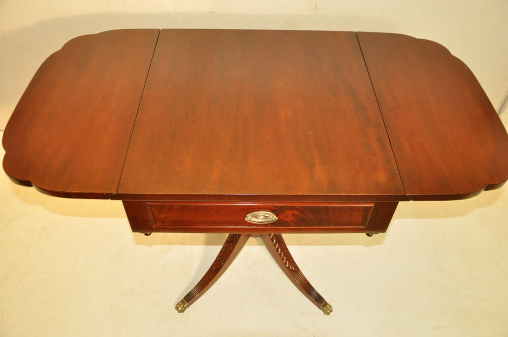 Beautiful regency style mahogany pembroke drop leaf end Beautiful end tables