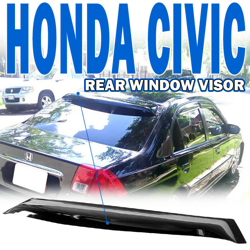 2001 2005 honda civic em 4dr 4 door oe rear roof window for 2000 honda civic rear window visor