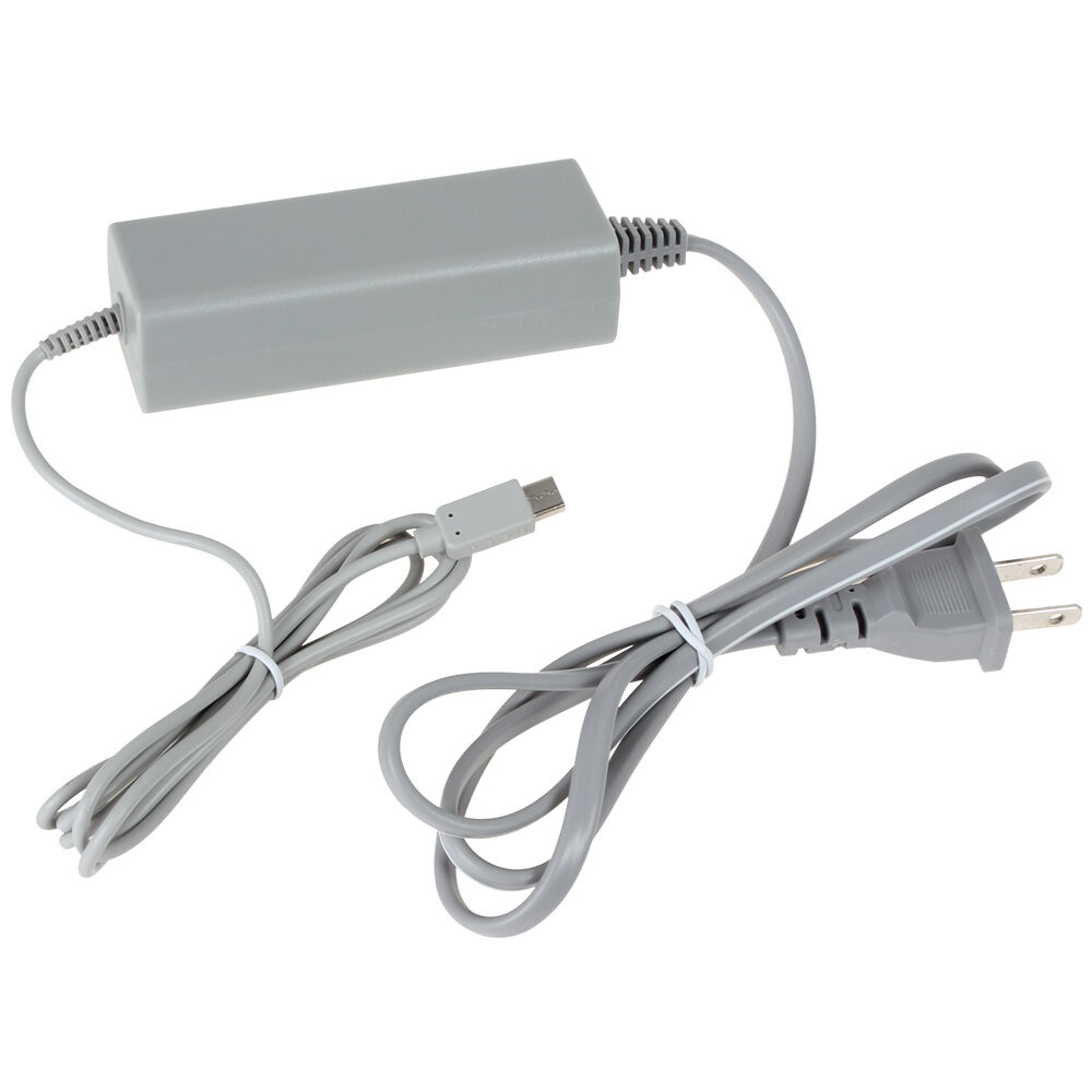 Ac Power Supply Adapter Charger For Nintendo Wii U Gamepad