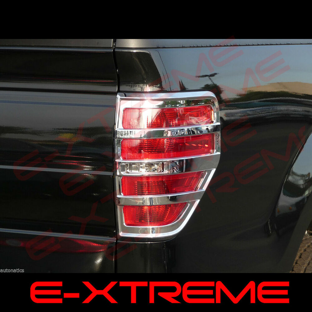 For Ford 2009 2014 F 150 F150 Chrome Tail Lights Overlay