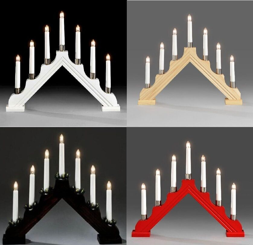 7 bulb plastic candle bridge christmas arch light indoor for Arch window decoration