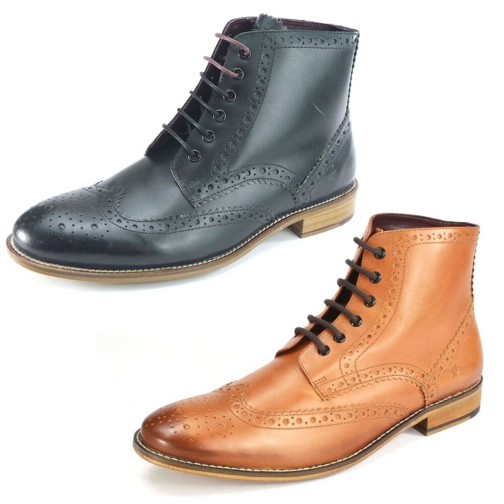 Mens Leather Brogue Shoes Uk
