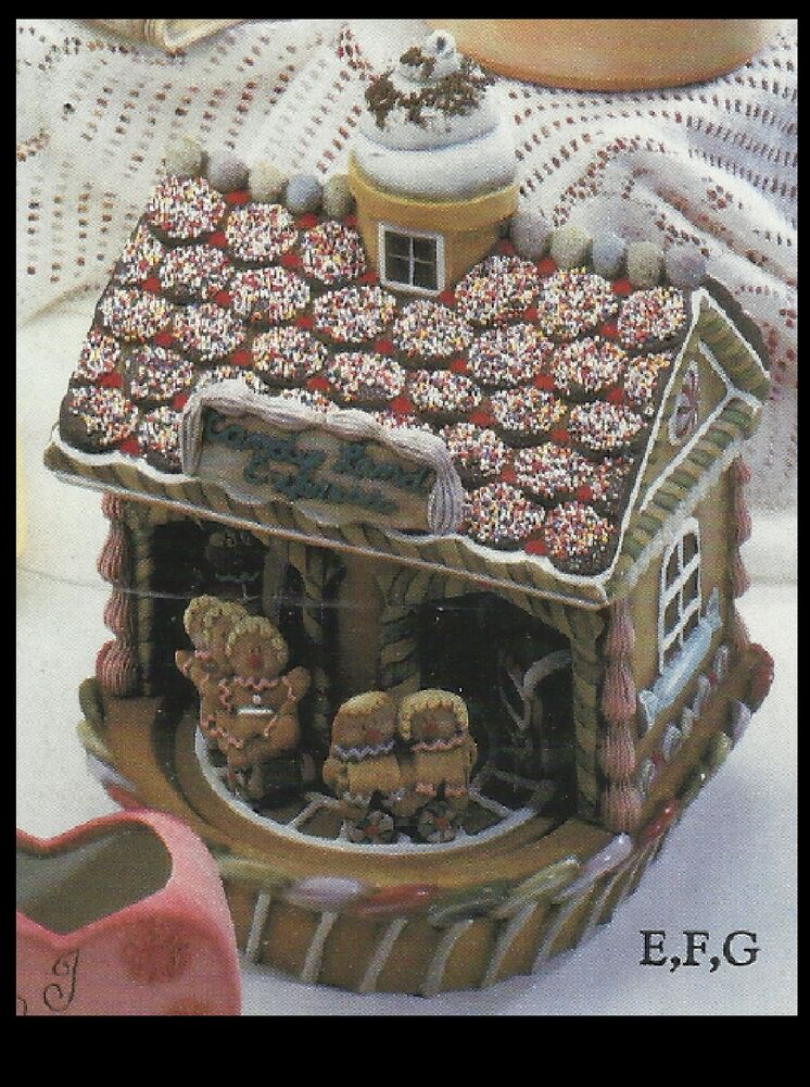 Ceramic bisque gingerbread house music box u paint ebay for Ceramic house paint