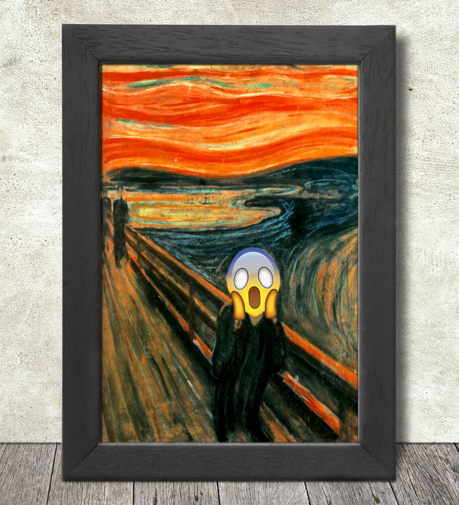 amazoncom the scream of nature edvard munch art print - 909×1000