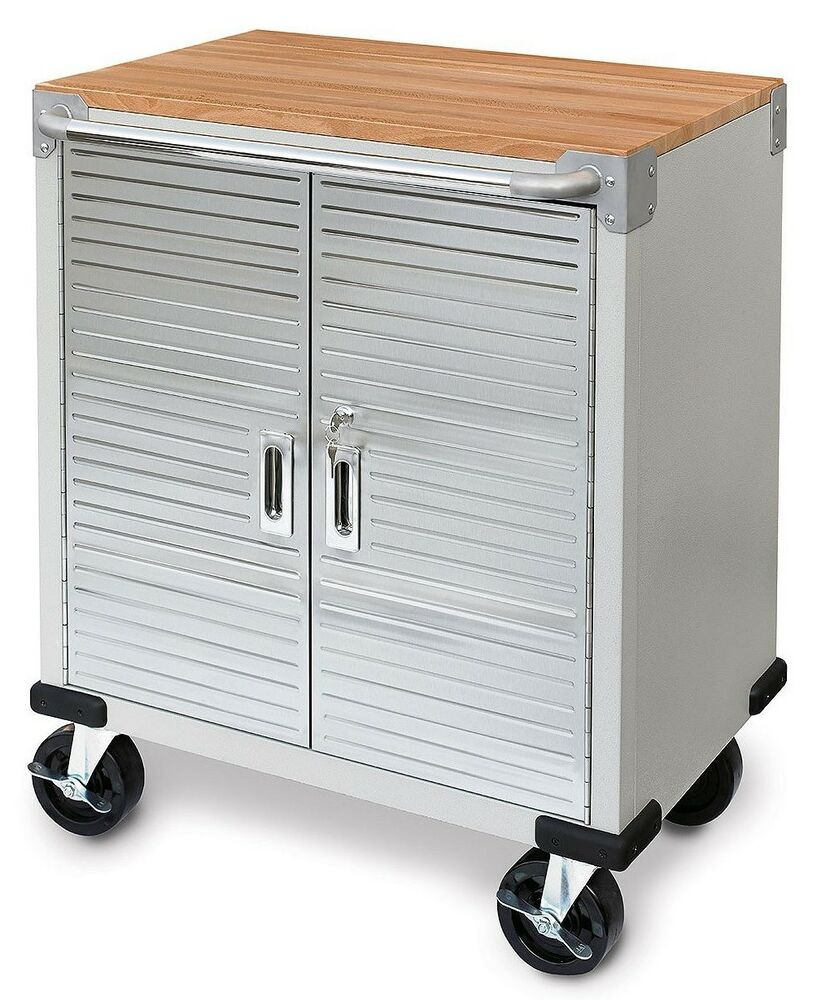 Seville 2 Door Rolling Storage Cabinet Tool Box Cart