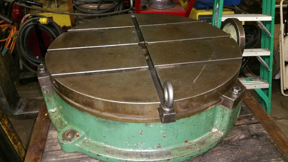 25 troyke t slotted rotary table model bh 25 ebay for 12 rotary table