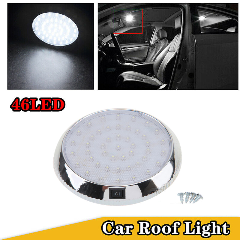 1pcs car vehicle 12v 46 led interior indoor roof ceiling dome light white lamp ebay. Black Bedroom Furniture Sets. Home Design Ideas