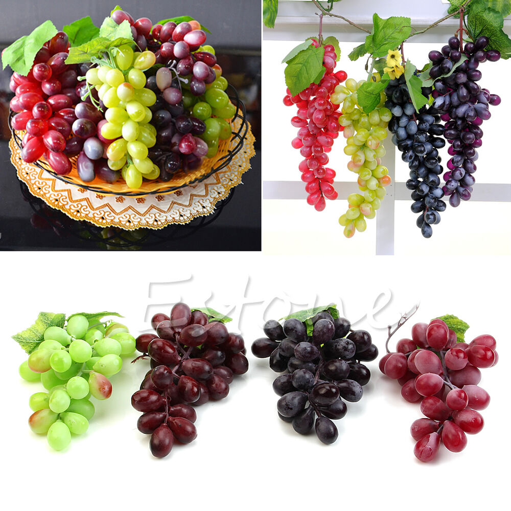 NEW Lifelike Artificial Grapes Plastic Fake Fruit Food