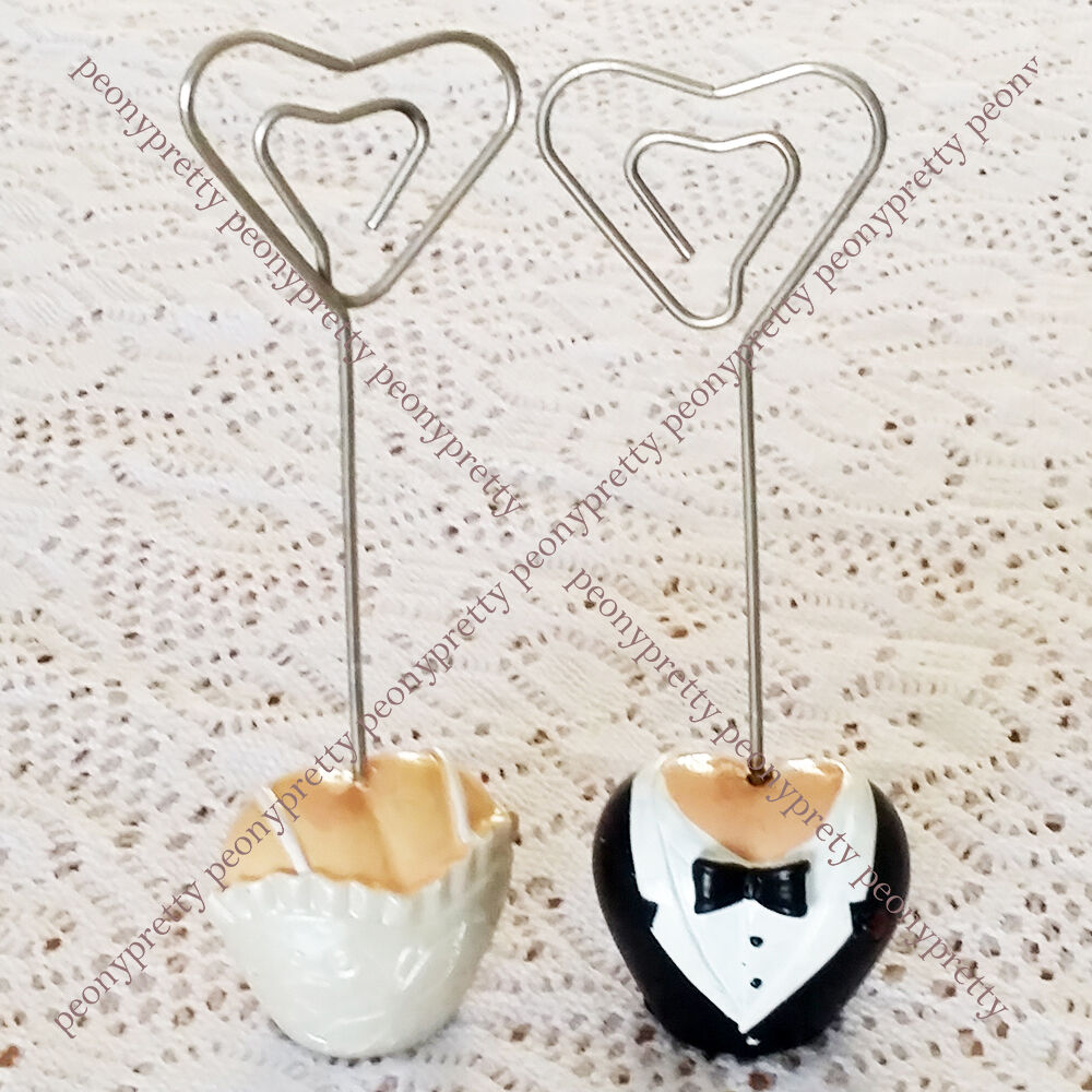 1 pair table name place number card holder wedding