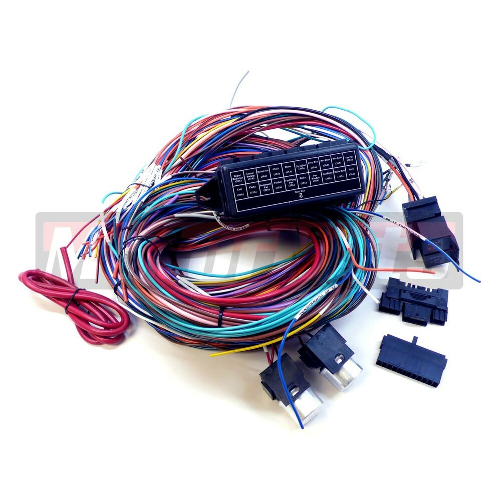 universal chevy gmc 20 circuit wire harness kit street hot ... 12 circuit universal wiring harness