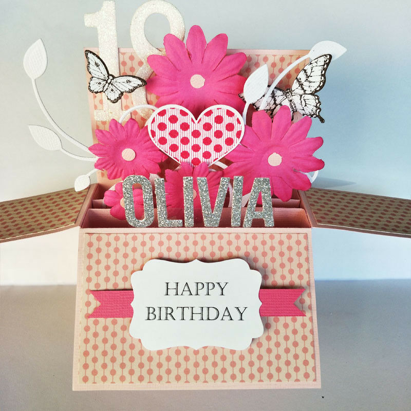 Details About Handmade Name Personalised Valentine Card Love Birthday Girlfriend