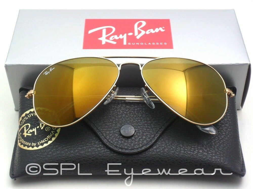 ray ban aviator yellow flash mirror lens rb 3025 gold. Black Bedroom Furniture Sets. Home Design Ideas