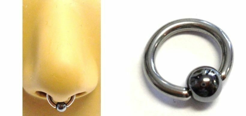 how to put in captive septum ring