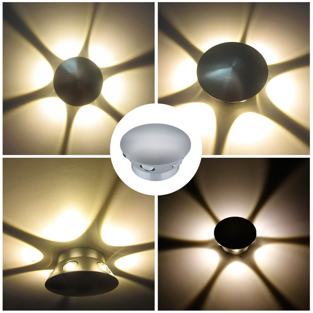 Jackyled Wall Sconces: 6w LED Wall Sconces Light Fixture Home Theater Disco