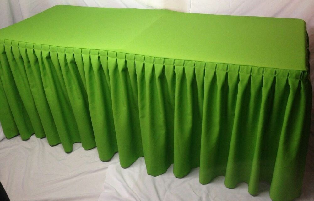 4 fitted polyester pleated table skirting cover w