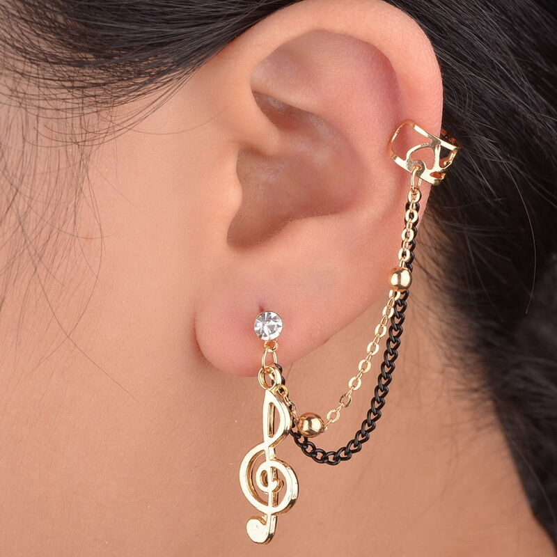 prom note gold plated clip ear cuff