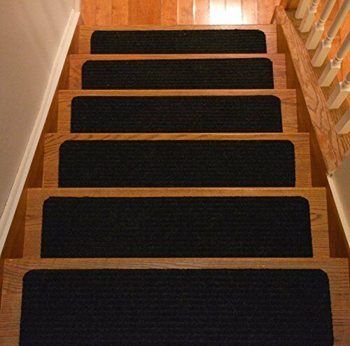 Wooden Stair Treads Indoor Skid Resistant Non Slip Carpet