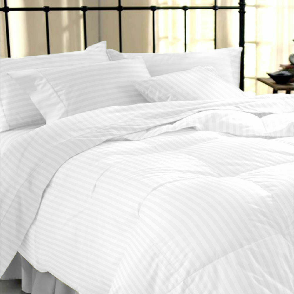 luxury 100 stripe tc400 egyptian cotton duvet cover pillow cases set all sizes ebay. Black Bedroom Furniture Sets. Home Design Ideas
