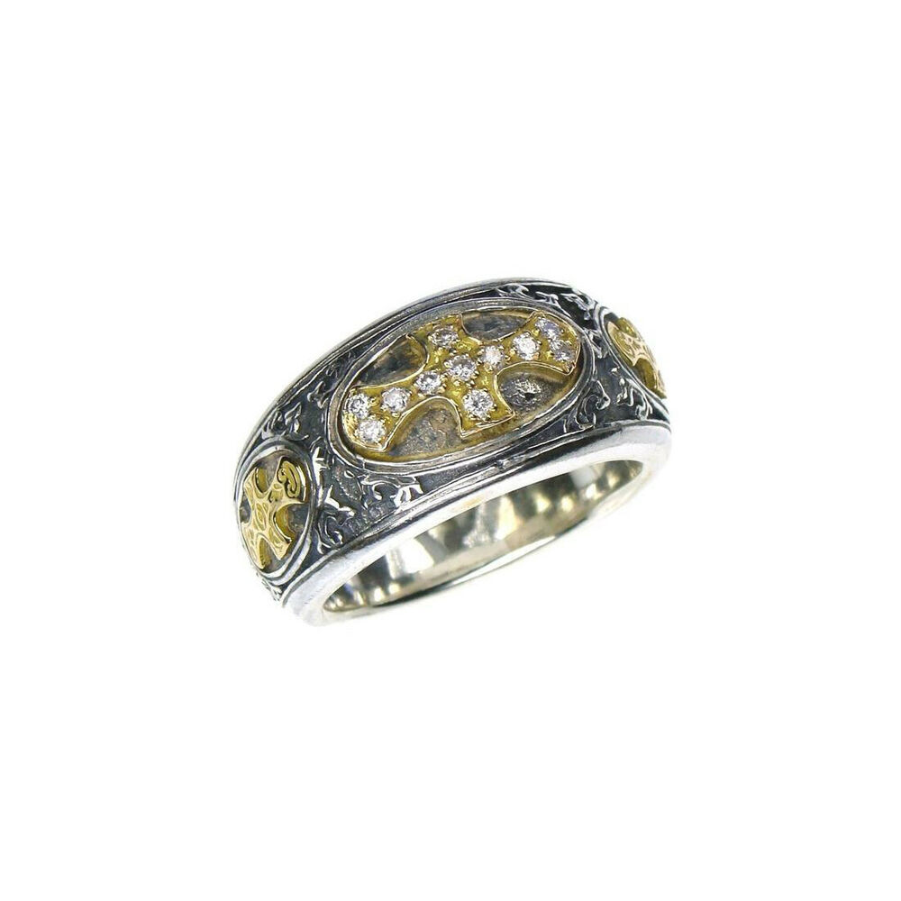 Gerochristo silver and 18k solid gold handmade byzantine for Lindenwold fine jewelers jewelry showroom price