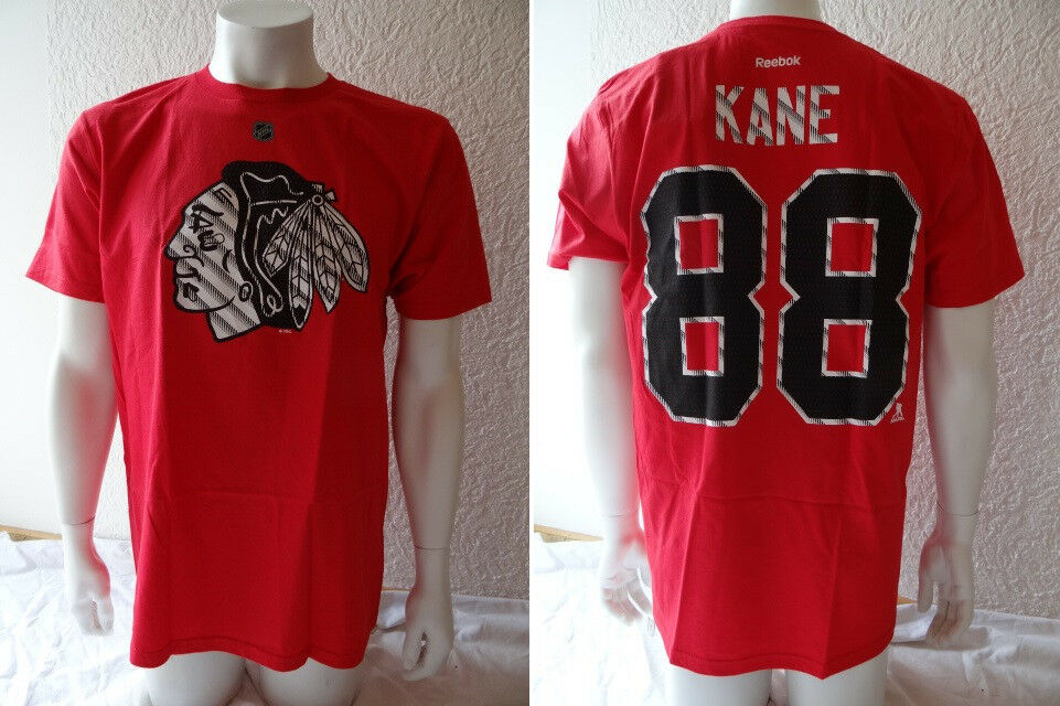 NHL Eishockey Shirt CHICAGO BLACKHAWKS Patrick Kane 88 rot-style ...