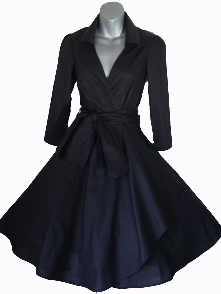 VINTAGE 50'S STYLE ROCKABILLY PINUP SWING WRAP EVENING ...