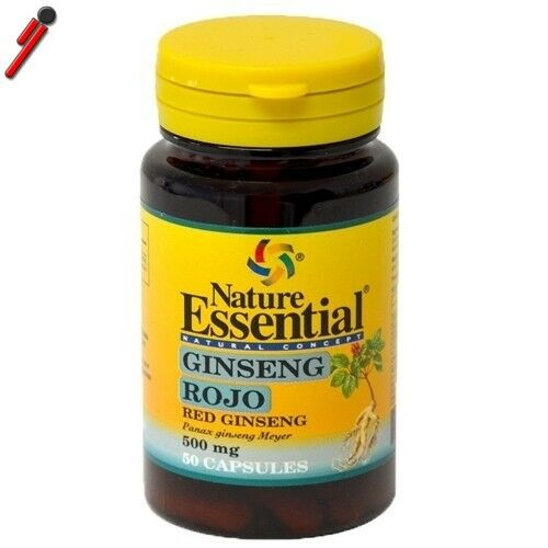 Nature Essential - Ginseng rosso, 50 cps. Panax Ginseng Tonico antiossidante