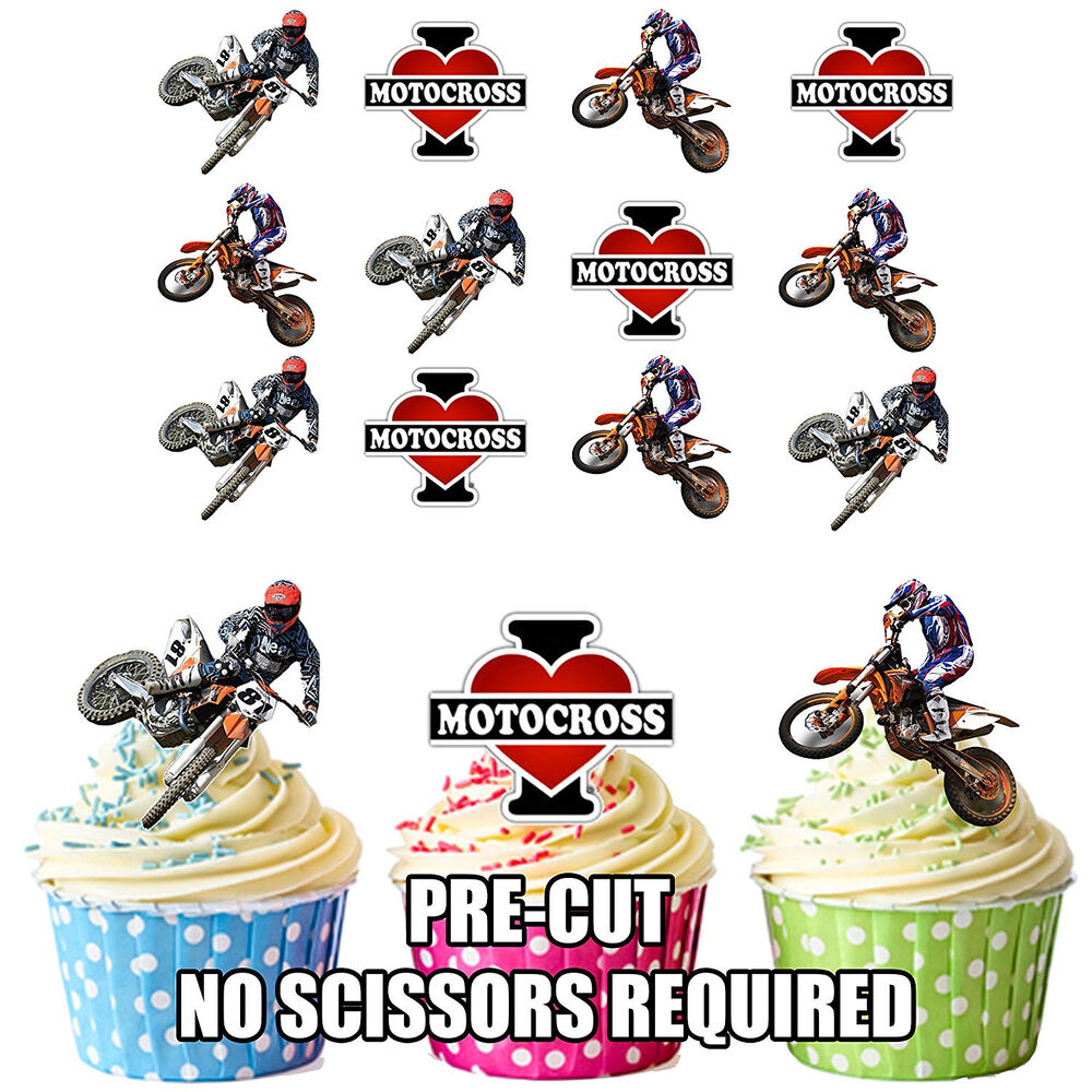 I love motocross ktm mix 12 edible wafer cup cake for Decoration ktm