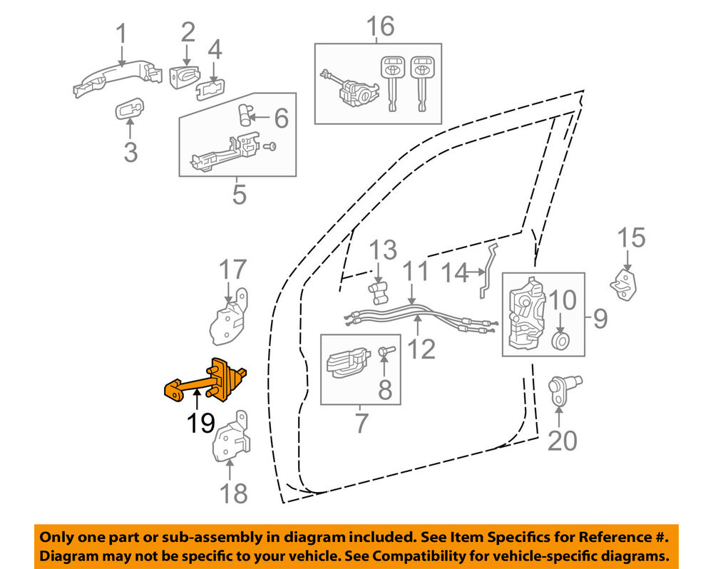 toyota oem 05 15 tacoma front door check arm 6861004021 ebay 2007 toyota sienna door diagram 2007 toyota sienna door diagram 2007 toyota sienna door diagram 2007 toyota sienna door diagram