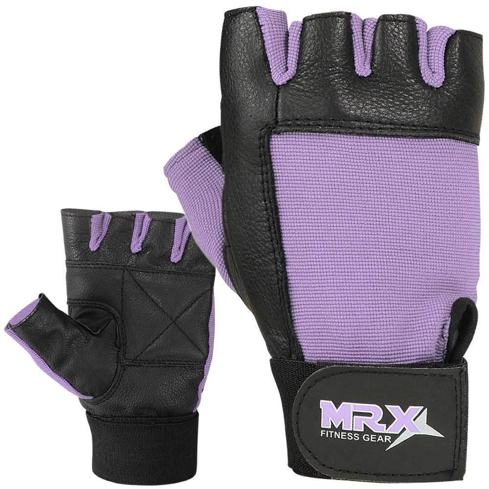 Dam Pro Gel Weight Lifting Gloves Gym Body Building Gloves: Ladies Weight Lifting Gloves Leather Fitness Gym Training