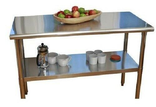 kitchen utility table island stainless steel top counter cart prep