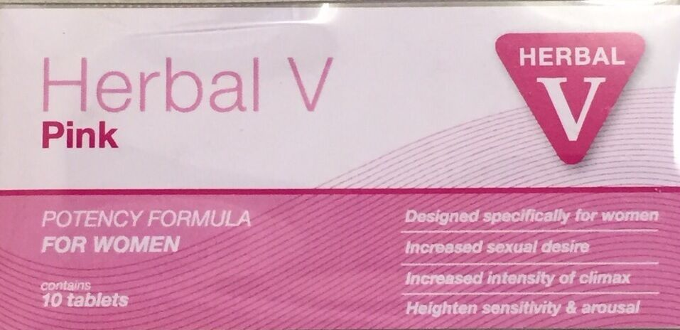 Herbal V Pink Female Libido Booster Sex Drive Pills For