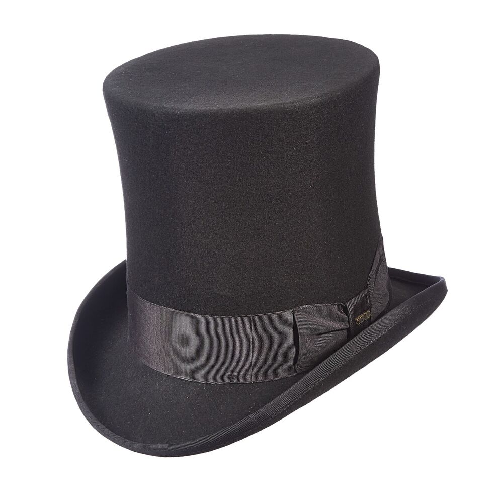 The Victorian Tall Top Hat By Scala