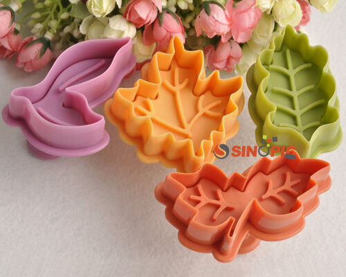 Cake Decorating How To Make Leaves : 4pcs Maple Leaf Cutter Fondant Sugar Craft Decorating Cake ...
