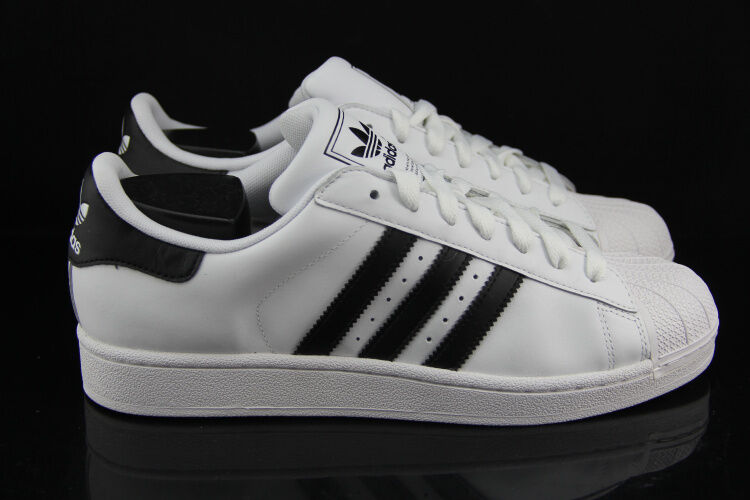 Adidas Superstar Black And White Mens