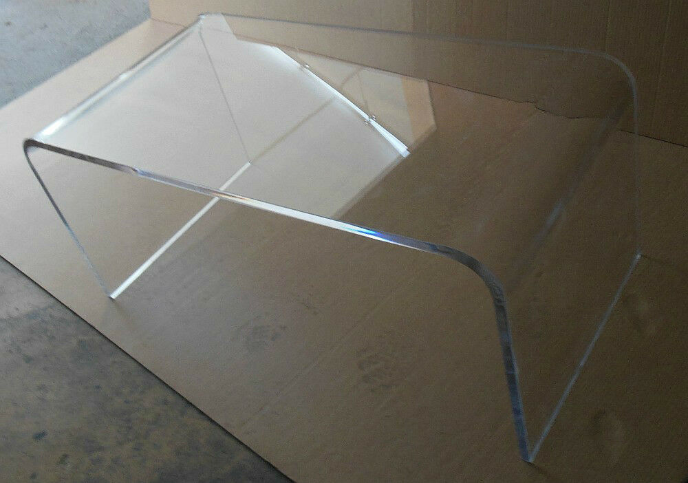 Acrylic Coffee Cocktail Table Lucite 40 X 20 X 18 High X 3 4 Thick Plexiglass Ebay