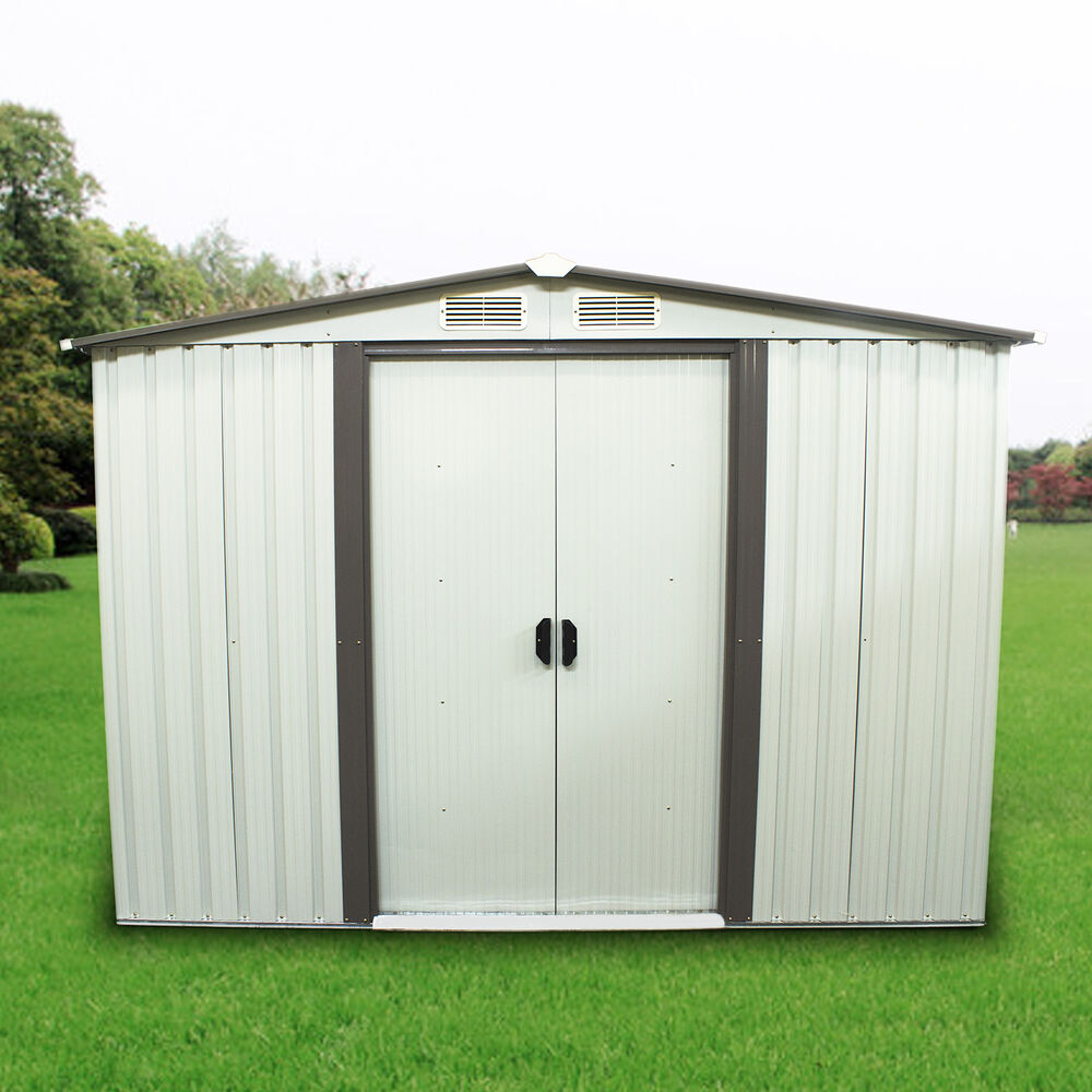 8 39 x6 39 outdoor utility tool storage shed backyard garden for Outdoor tool shed