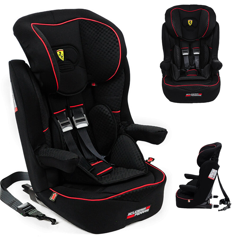 ferrari baby car seat i max gt group 1 2 3 9 36kg with isofix made in france ebay. Black Bedroom Furniture Sets. Home Design Ideas