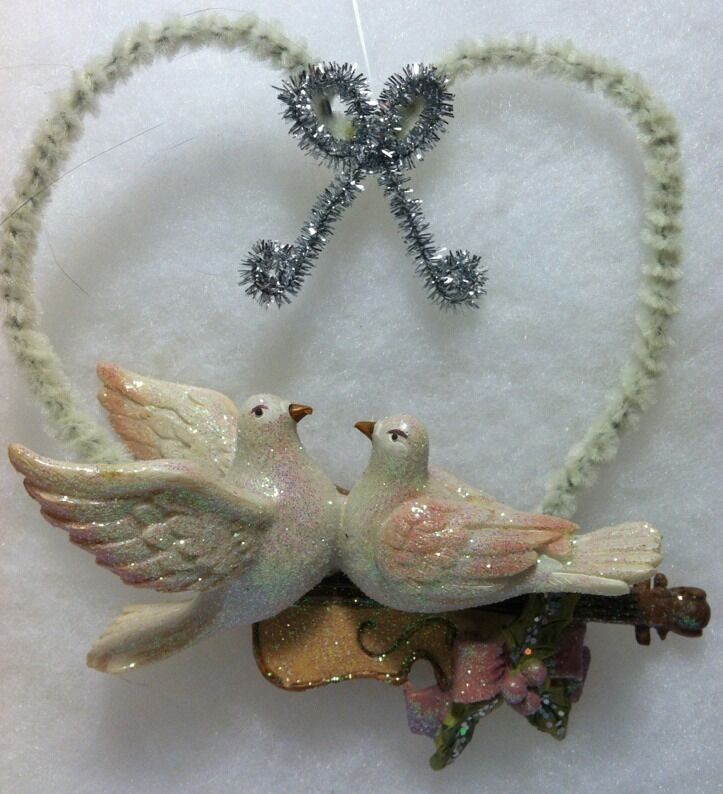 victorian dove love birds christmas tree ornament ebay. Black Bedroom Furniture Sets. Home Design Ideas