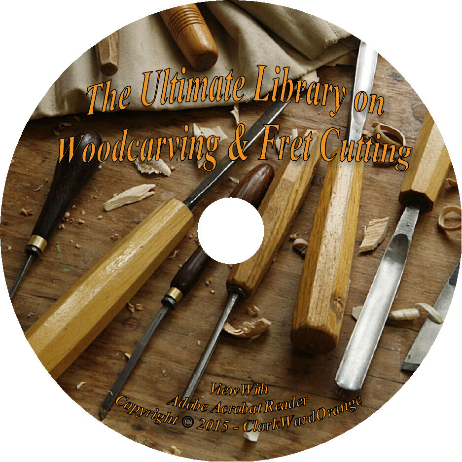 25 RARE Books on CD Woodcarving & Fret Cutting, Woodwork How to Wood ...